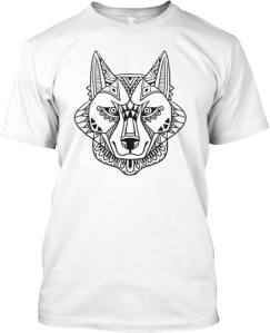 Ethnic Abstract Wolf T shirt