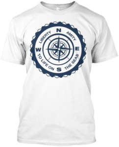 Sailor compass t shirt