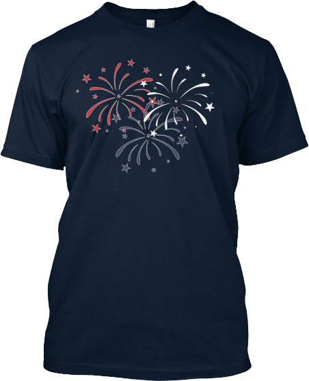 Fireworks 4th Fourth of July Independence Day T-shirt