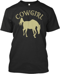 Cowgirl Horse T shirt