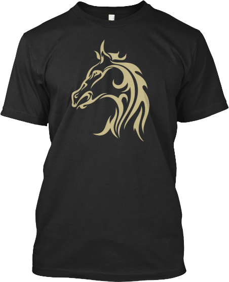Horse Head Tattoo T-shirt for Cowboys and Cowgirls
