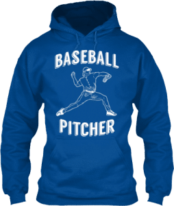 Baseball pitcher sports hoodie