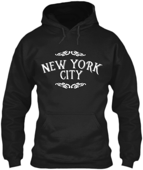 New York City Vintage Style Text - Hoodie