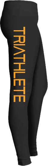 Triathlete running biking leggings