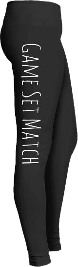 Game set match volleyball leggings