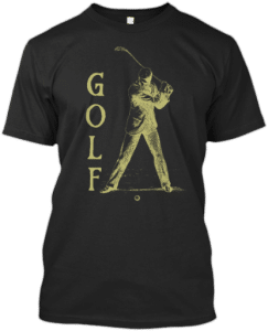 Vintage Golf Design T shirt