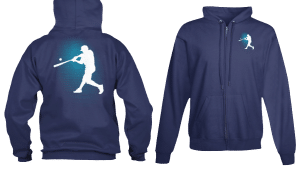 Zip Hoodie Baseball Player