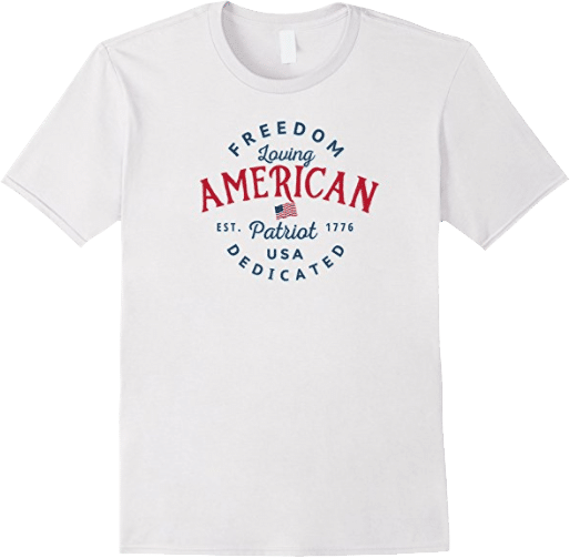 Freedom loving American Patriot Dedicated USA 1776 patriotic t shirt