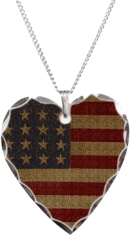 Americana Vintage American Flag Heart for Patriots Who Love America
