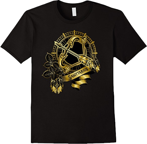Sagittarius Zodiac Bow Arrow T shirt
