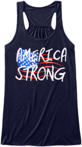 America Strong American Flag Tank top