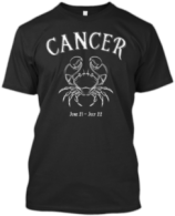 Classic Cancer Zodiac T shirt