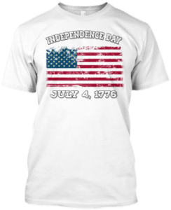 Independence Day T shirt American Flag Grunge