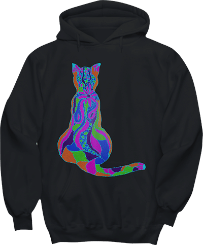 Mosaic Cat Hoodie for Cat Lovers