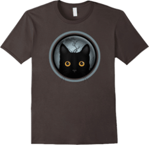 Black Cat Halloween Night T-shirt