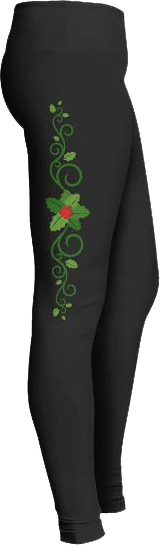 Christmas holly leggings