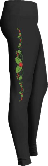 Christmas Holly Holiday Leggings