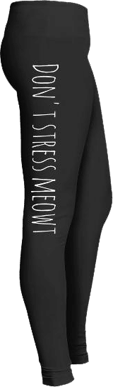 Don't stress meowt cat lover leggings
