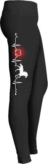 Horse Lovers Heartbeat Leggings