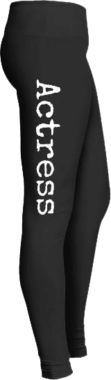 Theatre actress leggings