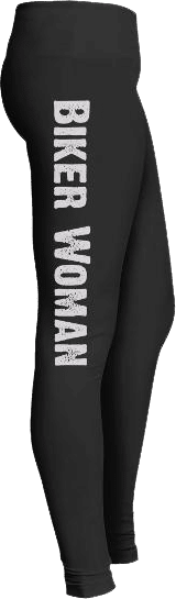 Biker woman motorcycle leggings