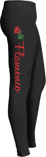 Flamenco dancer rose leggings