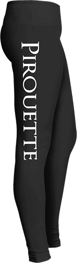 Pirouette ballet dancer leggings en pointe