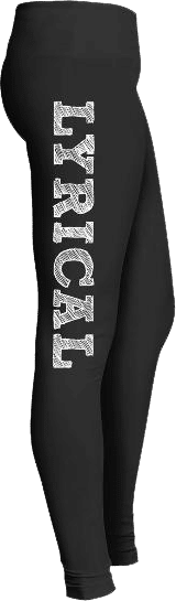 Chalkboard Lyrical Dance Leggings