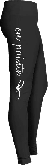 en pointe ballet dancer Leggings
