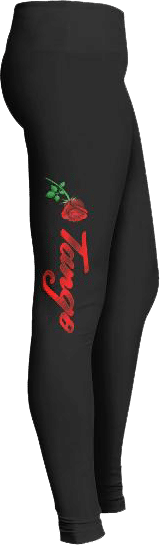 Tango Dance Rose Leggings
