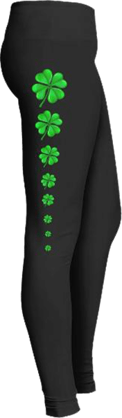 Clovers for Saint Patrick's Day Leggings