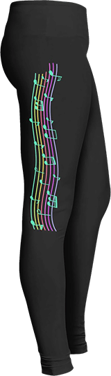 Music Staff Leggings