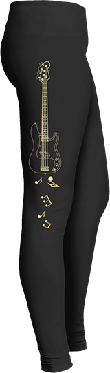 Electric Guitar Musician Leggings