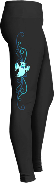 Blue Ghost Halloween Leggings