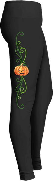 Pumpkin Jack-o-lantern Halloween Leggings