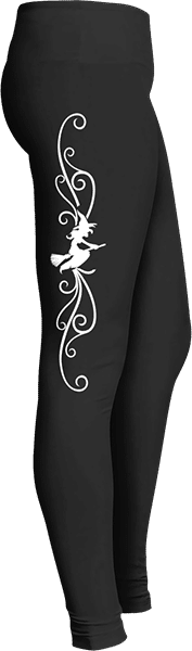 White Halloween Witch Leggings