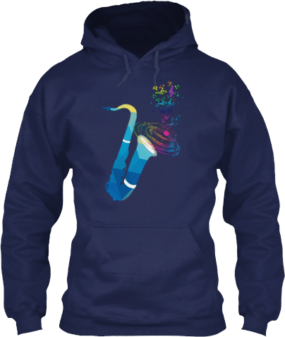 Saxophone Musical Instrument Music Notes Hoodie for Musicians