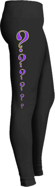 Purple question mark leggings
