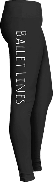 Ballet lines dancer leggings