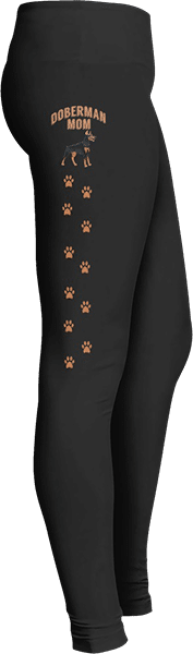 Doberman Mom Leggings Paw Prints Dog lovers