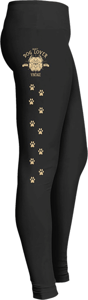 Dog Lover Vintage Rottweiler Dog Leggings Paw Prints