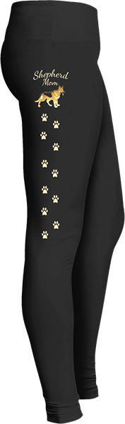Shepherd Dog Paw Prints Leggings for Dog Lovers