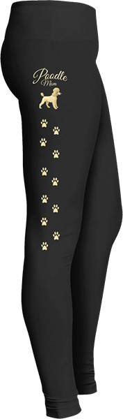 Poodle Mom Dog Lover Leggings Paw Prints