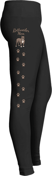 Rottweiler Mom Dog Leggings Paw Prints