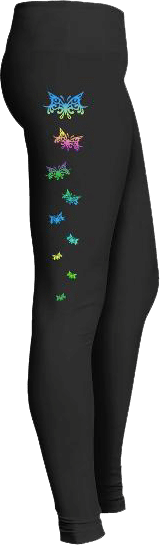 Multicolored Butterflies Leggings Butterfly Lovers