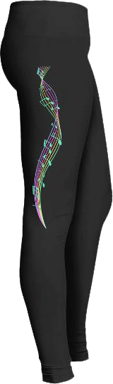 Music lovers staff leggings
