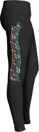 Musicians Staff musical notes leggings
