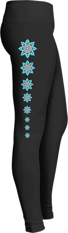 blue mandala yoga leggings