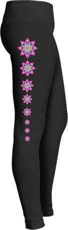 Pink mandala yoga leggings