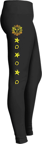 Yellow Sun Stars Astrology Leggings